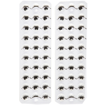Self-Adhesive Wiggle Eyes With Lashes - 10mm