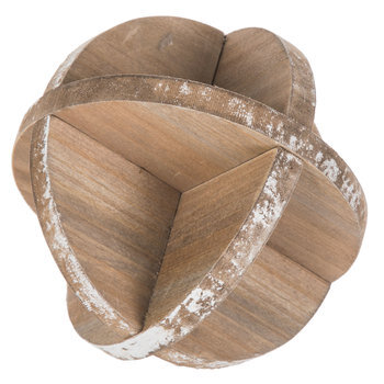 Wood Disc Decorative Sphere
