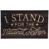 National Anthem Wood Wall Decor