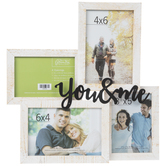 You & Me Collage Wood Wall Frame