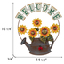 Welcome Sunflower Watering Can Metal Wall Decor