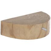 Half-Round Wood Slice Wall Shelf