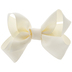 Ivory Grosgrain Bow Clip