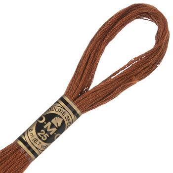 975 Dark Golden Brown DMC Cotton Embroidery Floss