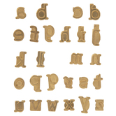 Walnut Hollow Lowercase Alphabet HotStamps