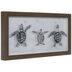 Sea Turtle Trio Framed Wood Wall Decor