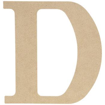 """Wood Letter D - 9 1/2"""""""