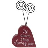 I'll Never Stop Loving You Heart Photo Clip