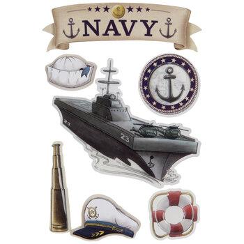 Navy 3D Stickers
