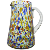 Multi-Color Dotted Glass Pitcher