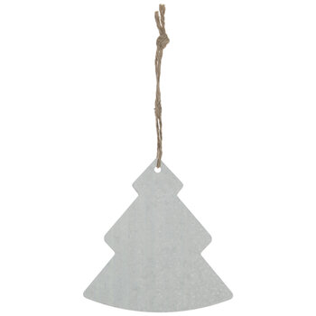 Galvanized Tree Ornaments