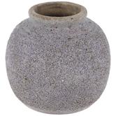 Light Purple Textured Terra Cotta Vase