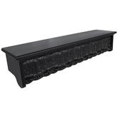 Black Shelf With Distressed Leafy Molding