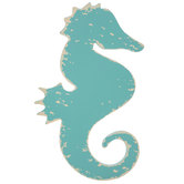 Seahorse Distressed Wood Wall Decor