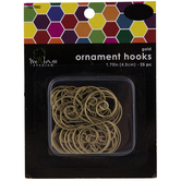 Gold Ornament Hooks - 1 3/4""