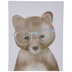 Bear With Glasses Canvas Wall Decor