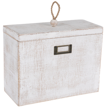Whitewashed Rectangle Box