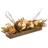 Gourd, Berry & Hydrangea Arrangement