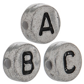 Metallic Alphabet Beads - 6mm
