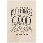 Romans 8:28 Rubber Stamp