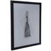 Black Tassel Framed Wall Decor