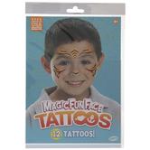 Tiger Stripes Temporary Face Tattoos