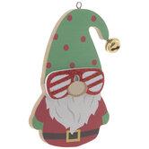 Gnome In Sunglasses Ornament