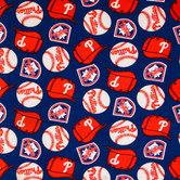 MLB Philadelphia Phillies Fleece Fabric