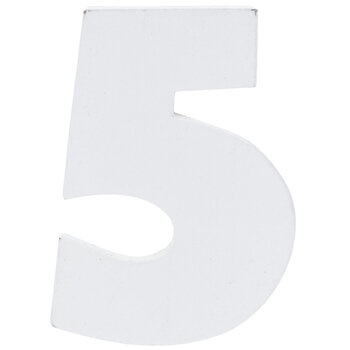 """White Wood Numbers 5 - 2"""""""