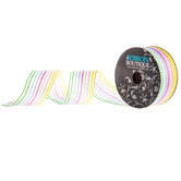 Pastel Rainbow Striped Sheer Ribbon - 1 1/2""