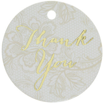Lace Thank You Favor Tags