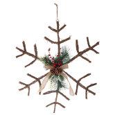 Rattan Snowflake Wall Decor