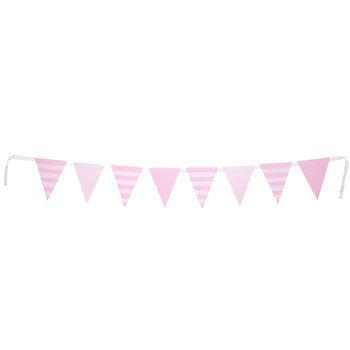 Soft Pink Striped Flag Banner