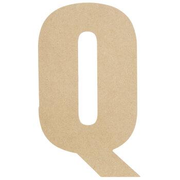 "Wood Letter Q - 13"""