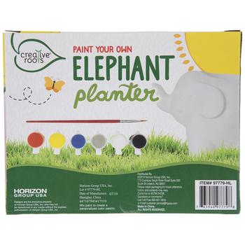 Paint Your Own Elephant Planter Kit