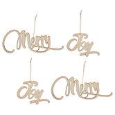 Merry & Joy Wood Cutouts