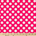Pink & White Polka Dot Apparel Fabric