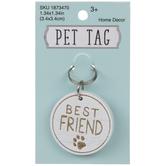 Best Friend Pet Tag