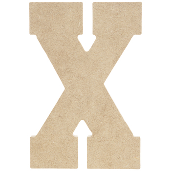 "Wood Letter X - 5"""
