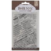 Newsprint Clear Stamp