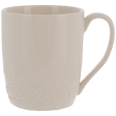White Leaf Edge Mug
