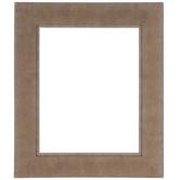Brown Beveled Wood Open Frame