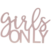 Girls Only Wood Wall Decor