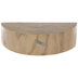 Half-Round Wood Slice Wall Shelf - Large