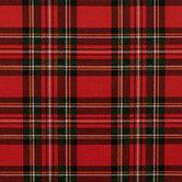 Red Stewart Plaid Cotton Fabric