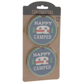 Happy Camper Car Coasters