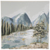 Mountain Stream Canvas Wall Decor