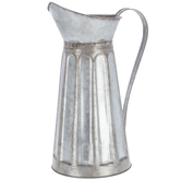 Tall Galvanized Metal Pitcher