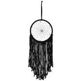 Black Fringe & Gray Tassel Dreamcatcher
