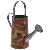 Sunflower Metal Watering Can
